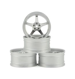 MST MXS-832109FS MST GT WHEEL SET CHROME/MATTE SILVER 4 OFFSET CHANGEABLE