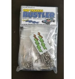 TEAM KNK KNKTR4X41 4WD RUSTLER STAINLESS HARDWARE KIT