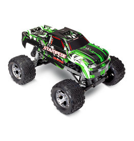 TRAXXAS TRA36054-4-GRN STAMPEDE®: 1/10 SCALE MONSTER TRUCK WITH TQ 2.4GHZ RADIO SYSTEM: GREEN