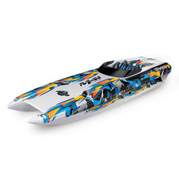 TRAXXAS TRA57046-4_ORANGE DCB M41 WIDEBODY: BRUSHLESS 40' RACE BOAT WITH TQI TRAXXAS LINK ENABLED 2.4GHZ RADIO SYSTEM & TRAXXAS STABILITY MANAGEMENT (TSM)