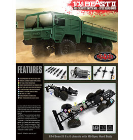 RC4WD RC4WDZ-K0052 1/14 BEAST II 6X6 KIT