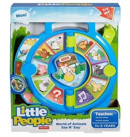 FISHER PRICE FP DVP80 LITTLE PEOPLE WORLD OF ANIMALS SEE 'N SAY