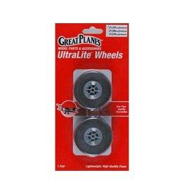 GREAT PLANES DISC. GPMQ4202 ULTRALITE WHEELS 2-1/
