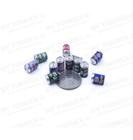 RC PIT PRODUCTS MY TOBBIES SCALE 12 PACK BEER CANS