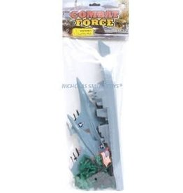 IMEX IMX41161 BATTLE SHIP AND F16 PLAY SET