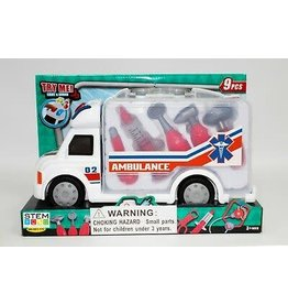 IMEX IMX14714 9 PCS MEDICAL EMERGENCY TRUCK