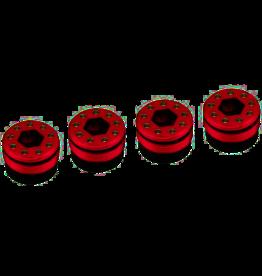 HOT RACING HRAAFE21N02 ALUMINUM O RING DELRIN CAP HUB ARRMA 1/5