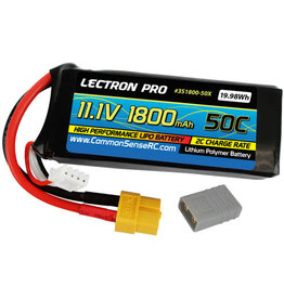 LECTRON PRO LECTRON PRO 11.1 V 3S 1800 MAH 50C LIPO BATTERY WITH XT60 AND TRAXXAS PLUG