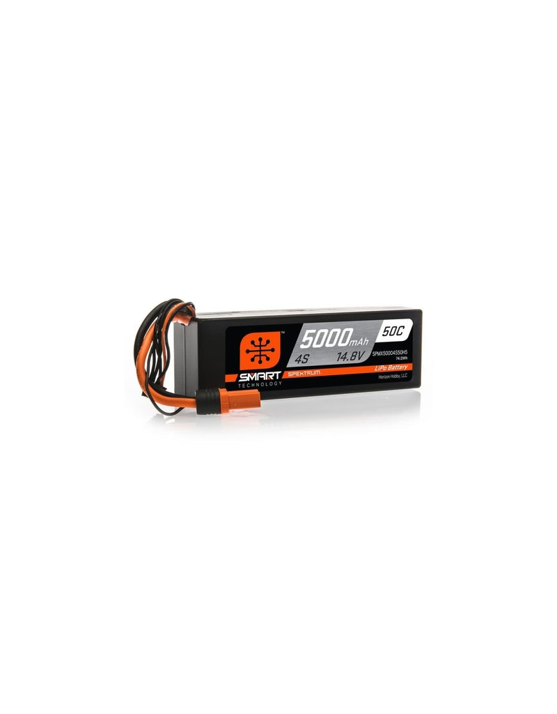 SPEKTRUM SPMX50004S50H5 5000MAH 14.8V 4S 50C SMART LIPO BATTERY WITH IC5