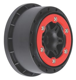 PROLINE RACING PRO271504 SIXER 2.2/3.0 RED/BLACK BEAD-LOC R WHEELS (2): SLH