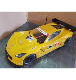 DELTA PLASTIK USA DP8503/2DW CORVETTE CR7 BODY WITH DECALS & WING