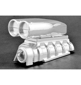 RPM RPM73543 CHROME SHOTGUN STYLE MOCK INTAKE & BLOWER