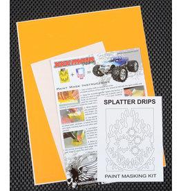XXX MAIN RACING XXXM046L SPLATTER DRIPS PAINT MASK
