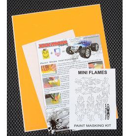 XXX MAIN RACING XXXM020L MINI FLAMES PAINT MASK