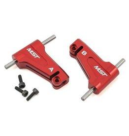 MST MXS-210575R RMX 2.0 ALUMINUM UPPER ARM SET (RED)