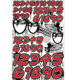 XXX MAIN RACING XXXN001 SKULL NUMBER RED
