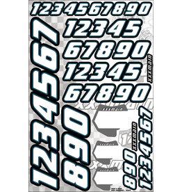 XXX MAIN RACING XXXN002 RACE NUMBERS WHITE