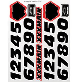 XXX MAIN RACING XXXS035 NUMBERS BLACK STICKER SHEET