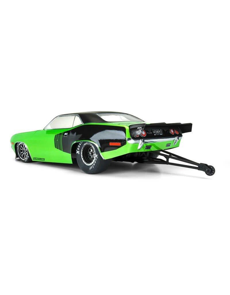 PROLINE RACING PRO355000 1972 PLYMOUTH BARRACUDA CLEAR BODY SLASH 2WD DRAG