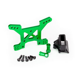 TRAXXAS TRA6739G ALUMINUM SHOCK TOWER FRONT GREEN