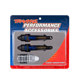 TRAXXAS TRA7461  SHOCKS, GTR XX-LONG (FULLY ASSEMBLED, WITHOUT SPRINGS) (2) : BLUE