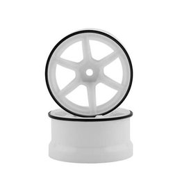 YOKOMO YOKRP-6313W6 YOKOMO 12MM HEX RACING PERFORMER HIGH TRACTION RWD DRIFT WHEELS (WHITE) (2)