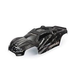 TRAXXAS TRA8611R BODY, E-REVO BLACK /WINDOW
