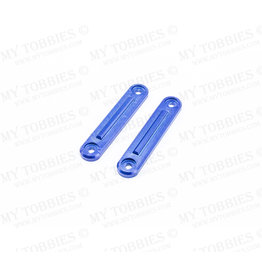 STUPID RC STP1131BLUE ARRMA INFRACTION ROOF RAIL PLATES FOR ROLL CAGE ALUMINUM: BLUE