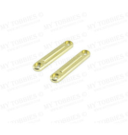 STUPID RC STP1131GOLD ARRMA INFRACTION ROOF RAIL PLATES FOR ROLL CAGE ALUMINUM: GOLD
