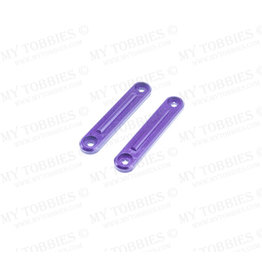 STUPID RC STP1131PURPLE ARRMA INFRACTION ROOF RAIL PLATES FOR ROLL CAGE ALUMINUM: PURPLE