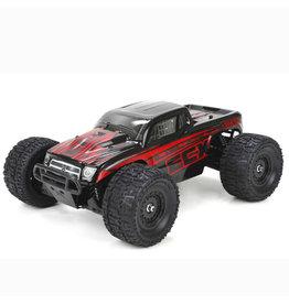ECX ECX01000T1 RUCKUS 1/18 4WD MONSTER TRUCK: BLACK/RED RTR
