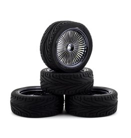 FIRE BRAND RC FBR1WHEOGB591 OG RT3 PRE-MOUNTED ON-ROAD TIRES (4) (SMOKE CHROME)