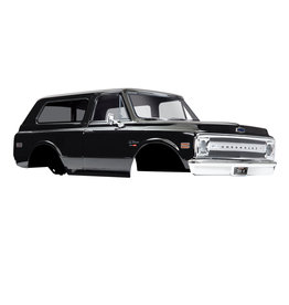 TRAXXAS TRA9112X BODY, CHEVROLET BLAZER (1969), COMPLETE (BLACK) (INCLUDES GRILL, SIDE MIRRORS, DOOR HANDLES, WINDSHIELD WIPERS, FRONT & REAR BUMPERS, DECALS)