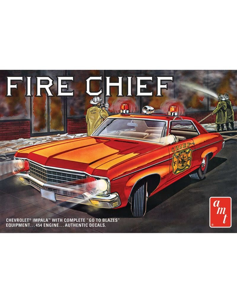 AMT AMT1162 1/25 1970 CHEVY IMPALA, FIRE CHIEF