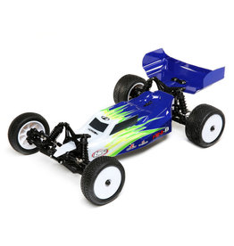 LOSI LOS01016T1 MINI-B, BRUSHED, RTR: 1/16 2WD BUGGY, BLUE/WHITE