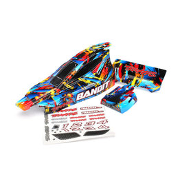 TRAXXAS TRA2448 BODY, BANDIT, ROCK N' ROLL (PAINTED, DECALS APPLIED)