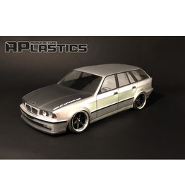 APLASTICS APS0006 1/10 BMW E34 WAGON CLEAR BODY