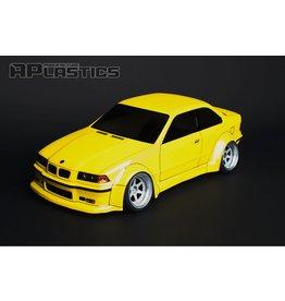 APLASTICS APS0008 1/10 BMW E36 WIDE COUPE CLEAR BODY