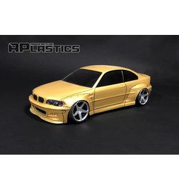 APLASTICS APS0010 1/10 BMW E46 PANDEM CLEAR BODY