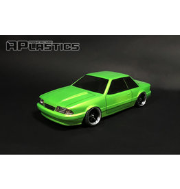 APLASTICS APS0019 1/10 MUSTANG NOTCHBACK CLEAR BODY