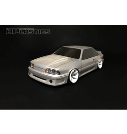 APLASTICS APS0020 1/10 FORD 1990 MUSTANG GT CLEAR BODY