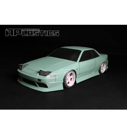 APLASTICS APS0027 1/10 NISSAN S13 ONEVIA CLEAR BODY