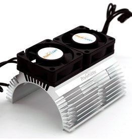 POWER HOBBIES PHBPH1289SILVER POWER HOBBY HEAT SINK WITH TWIN FAN