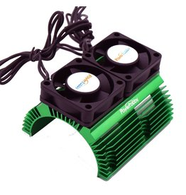 POWER HOBBIES PHBPH1289GREEN POWER HOBBY HEAT SINK WITH TWIN FAN