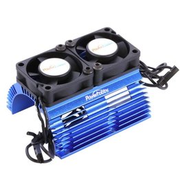 POWER HOBBIES PHBPH1289BLUE POWER HOBBY HEAT SINK WITH TWIN FAN