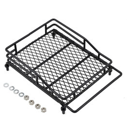 YEAH RACING YEA-YA-0403 1/10 CRAWLER SCALE METAL MESH ROOF RACK LUGGAGE TRAY (14X10X3.5CM)