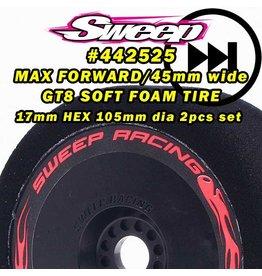 SWEEP RACING SRC442525 MAX FORWARD FOAM GT 17MM TIRES : SOFT