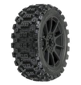PROLINE RACING PRO906721 BADLANDS MX M2 1/8 MTD MACH 10 BLACK WHEELS F/R