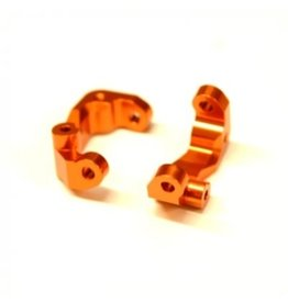 STRC SPTSTC91417CO CNC MACHINED ALUM CASTER BLOCKS (1 PAIR) FOR DR10 (ORANGE)