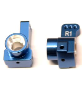 STRC SPTSTC91418T1B  CNC MACHINED AUlMINUM REAR HUB CARRIERS (1 PAIR) 1 DEG TOE-IN FOR DR10 (BLUE)